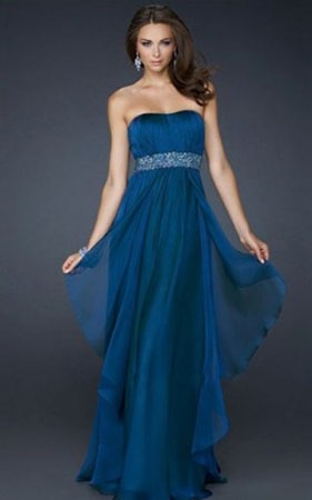 Chiffon Midnight Blue Prom Gown 2013 by La Femme 17523 [La Femme 17523] - $168.59 : www.2014dresstrends.us