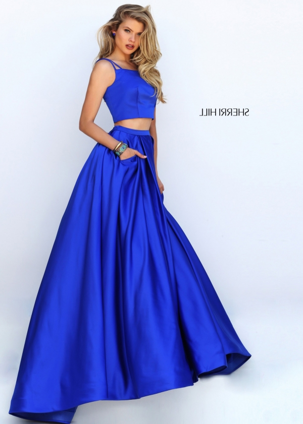 Cheap Sherri Hill 50295 Shimmery Royal Crop Top Open Back Satin Evening Gown [sherri hill 50295 royal] - $172.00 : 2016 Sherri Hill Prom Dresses Cheap Sale online.Big Discount Price Sherri Hill