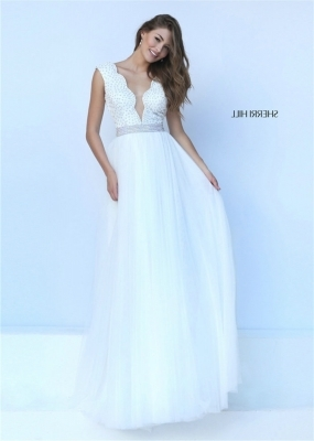 White Scalloped V Neck Jeweled Waist Sherri Hill 50029 Prom Dress [Sherri Hill 50029 white] - $195.00 : 2016 Sherri Hill Prom Dresses Cheap Sale online.Big Discount Price Sherri Hill
