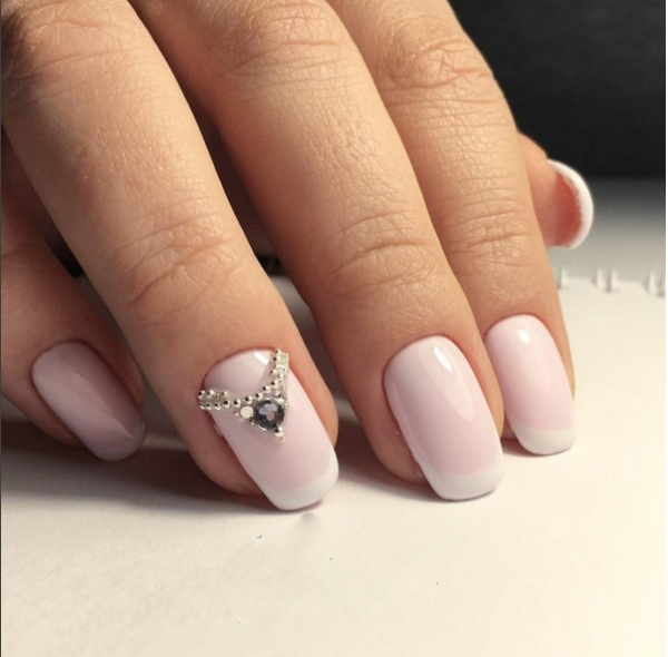 manicure pink french