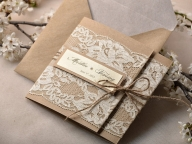 TOP 30 Chic Rustic Wedding Invitations from Etsy - Deer Pearl Flowers - Galanteria papiernicza