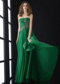 Long Green Strapless Straight Beaded Chiffon Evening Gown [JC-5004 Green] - $151.00 : Prom Dresses, Homecoming Dresses, Formal Dresses Outlet – EveryProm - Sukienki na wesele