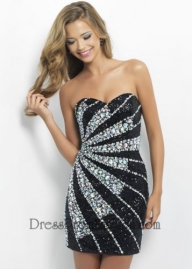 Strapless Black Beaded Short Fitted Cocktail Dress [Short Fitted Cocktail Dress] - $198.00 : Fashion Cheap Prom Dresses, Formal, Homecoming Dresses - DressPromFashion - Sukienki na wesele