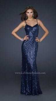 La Femme 17645 sexy sequined gown Full length Dress for Homecoming [sexy sequined gown] - $199.00 : www.2014dresstrends.com - Sukienki na wesele