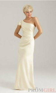 Long Ivory One Sleeve Bridesmaid Dresses [cheap long wedding party dresses] - $183.90 : lafemme2013outlet.com - Suknie ślubne
