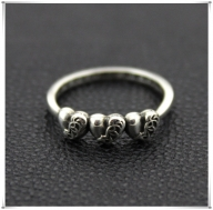 Womens 2016 Chrome Hearts Three Hearts Silver Ring Gift - $128.00 : Chrome Hearts Online,70% off Chrome Hearts Cheap Sale - Zaręczyny