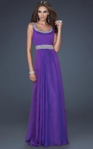 Purple Long Pleated Scoop Neck Sparkling Prom Dress [long dresses 7] - $189.90 : www.thedresses2014.com - Sukienki na wesele