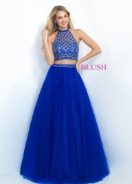 2016 Sparkly Jeweled High Neck Open Back Prom Dress by Blush 5501 [blush 5501 sapphire] - $170.55 : Cheap Prom Dresses Sale, Affordable Homecoming Dresses For Girls - Sukienki na wesele