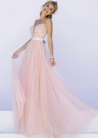 Blush Nude Lovely Elegant A Line Lace Evening Gown With Straps [SH-32229 Blush/Nude] - $192.00 : Prom Dresses, Homecoming Dresses, Formal Dresses Outlet – EveryProm - Sukienki na wesele