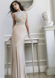 2015 Nude Silver Beaded High Neck Long Prom Dresses Sale [Nude/Silver SH 11069] - $298.00 : Fashion Cheap Prom Dresses, Formal, Homecoming Dresses - DressPromFashion - Suknie ślubne