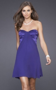 Cheap La Femme Style 15041 Purple Cutout Back Mini Dress [purple mini dress] - $163.90 : lafemme2013outlet.com - Sukienki na wesele