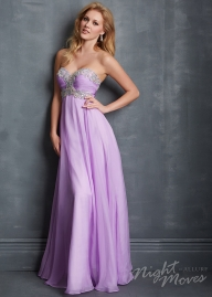 Crystal Beaded Crisscross Bust Long Lilac Prom Dress 2016 [Night Moves 7078] - $188.00 : Hot Sale Prom Dresses - Sukienki na wesele
