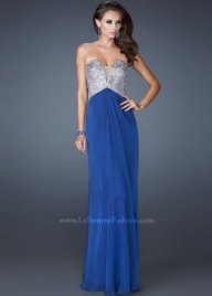 Discount Long Blue Sequined Top Evening Gown By La Femme 18645 [sequined top blue prom dress] - $194.19 : lafemme2013outlet.com - Sukienki na wesele