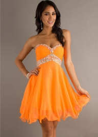 Jeweled Strapless Short Orange A-line Homecoming Dress [ML-9207 Orange] - $125.00 : Prom Dresses, Homecoming Dresses, Formal Dresses Outlet � EveryProm - Plener