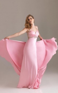 Discount Pink Night Moves 6450 Straps Sweetheart Halter Satin Prom Dresses [Night Moves 6450 Pink] - $188.90 : lafemme2013outlet.com - Sukienki na wesele