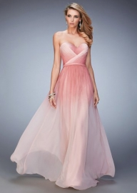 Rose Ombre Ruched Strapless School Formal Dress [la femme 22156 rose] - $159.00 : Fashion Cheap Prom Dresses, Formal, Homecoming Dresses - DressPromFashion - Sukienki na wesele