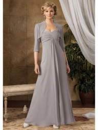 A-Line Strapless Sweetheat Ankle-Length Chiffon Sequins Mother Of The Bride Dress - Bukiety i butonierki