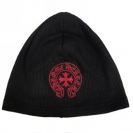 2015 Chrome Hearts Red Horseshoes Logo Knit Cap Black - $99.00 : Chrome Hearts Online,70% off Chrome Hearts Cheap Sale - Dodatki męskie