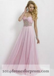 Pink Stones Blush 9795 Strapless Long Prom Dresses [pink long prom dresses] - $152.00 : www.2014dressesforprom.us - Sukienki na wesele