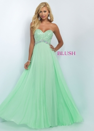 2016 Blush Prom 11050 Flirty Jeweled Empire Waist Prom Dress [blush 11050 honeydew] - $151.60 : homecomingshortdresses.us - Sukienki na wesele