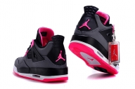 Hot Air Jordan 4 Women Shoes GS Hyper Black Grey Pink - Galanteria papiernicza