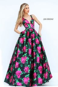 Pink Plunging Neck Sherri Hill 50598 Floral Print Evening Gown [Sherri Hill 50598] - $185.00 : 2016 Sherri Hill Prom Dresses Cheap Sale online.Big Discount Price Sherri Hill - Garnitury
