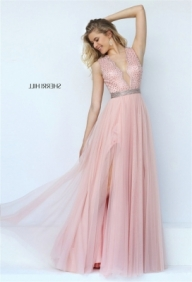 Pink Dreamy Sleeveless Beaded Evening Gown with Diaphanous Flutters [Sherri Hill 50029 pink] - $195.00 : 2016 Sherri Hill Prom Dresses Cheap Sale online.Big Discount Price Sherri Hill - Buty ślubne damskie