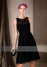 Short A-line Little Black Dress Sleeveless Lace Cocktail Dress Black Friday Sale http://www.qqdress.com/Buy-Short-A-line-Little-Black-Dress-Sleeveless-Lace-Cocktail-Dress-sod11027 - Sukienki na wesele