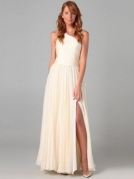 A-line One Shoulder Ankle-length Sleeveless Chiffon Dress - Bukiety i butonierki