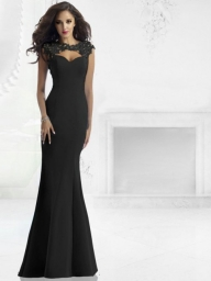 Trumpet/Mermaid Sleeveless Floor-Length Scoop Lace Taffeta Dresses - Prom Dresses - Bukiety i butonierki