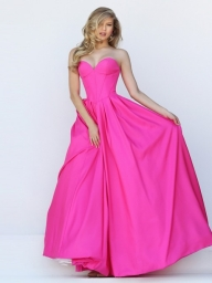Ball Gown Sleeveless Sweetheart Taffeta Floor-Length Dresses - Prom Dresses - Bukiety i butonierki