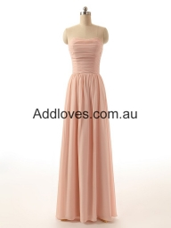 Simple A-Line Sleeveless Floor-Length Chiffon Prom Dresses at addloves.com.au - Sukienki na wesele