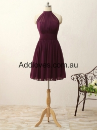 Exquisite A-line Short Halter Purple Prom Dresses at addloves.com.au - Sukienki na wesele