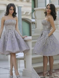 Sparkly Beads Short Prom Dress Silver Sequins Homecoming Dress, OP204 – ombreprom.co.uk - Buty ślubne damskie