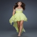 Strapless Light Lime High to Low Prom Dresses Sparkly [Strapless Light Lime Dresses] - $170.90 : www.thedresses2014.com