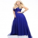 Unique Dark Royal Blue Long Formal