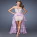 Sparkly Lavender Stones Beaded High Low Dress [Beaded High Low Dress] - $203.00 : www.2014dresstrends.com