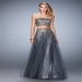 Gunmetal Glitzy Beaded Multi-Layer Two Piece Prom Dress [la femme 22379 gunmetal] - $199.00 : Prom Dresses, Homecoming Dresses, Formal Dresses Outlet – EveryProm