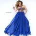 Blue Sherri Hill 11206 Beaded Open Back A Line Evening Gown [Sherri Hill 11206] - $188.00 : www.dressesforprom2015.com