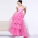 Discounted Pink Floral Embroidery Tiered Evening Gown [SH-11023 Neon Pink] - $148.00 : Prom Dresses, Homecoming Dresses, Formal Dresses Outlet – EveryProm