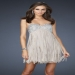 Nude Sequin Top Strapless Fringe Homecoming Dress [Strapless Fringe Homecoming Dress] - $185.90 : www.thedresses2014.com