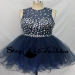 Staychicfashion 2015 Navy Short Mesh Rhinestone Beaded Top Open Back Organza Prom Dress Sale [SC174] - $223.00 : Tailor-made Prom Dresses Sale, Womens Formal Dresses Online