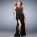 2016 Black Metallic Stud Embellished Prom Dress Sale [la femme 22152 black] - $205.00 : www.prom2014outlet.com