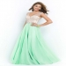 Nude Bodice Dew/Nude Blush 9915 Open Back Long A-line Skirt [Blush 9915] - $299.00 : www.dressesforprom2015.com