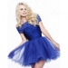 Outlet Cheap Boat Neck Short Blue Homecoming Dresses 2015 Sale [short blue summer dress] - $173.90 : lafemme2013outlet.com
