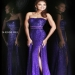 Purple Sequins Long Slit Sherri Hill 8542 Prom Dresses [purple long prom dresses] - $175.00 : www.2014dressesforprom.us