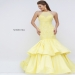 Dazzling Sequined Yellow Open Back Taffeta Formal Gown [sherri hill 50266 yellow] - $247.00 : 2015 Prom Dresses, 60% off Girls Homecoming Dresses Outlet