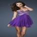 Short Purple Striped Sequins Homecoming Dresses [sequin prom dress on sale] - $174.99 : www.dresslafemme.com