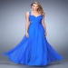 Blue Sparkly Beaded Illusion Cut Out Prom Dresses 2016 [la femme 22612 blue] - $199.00 : Cheap Prom Dresses 2015 For Sale,Save Up to 60%