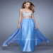 Chiffon Periwinkle Long Beaded Two Piece Dress By La Femme 21135 [La Femme 21135 Periwinkle] - $202.00 : Hot Sale Prom Dresses